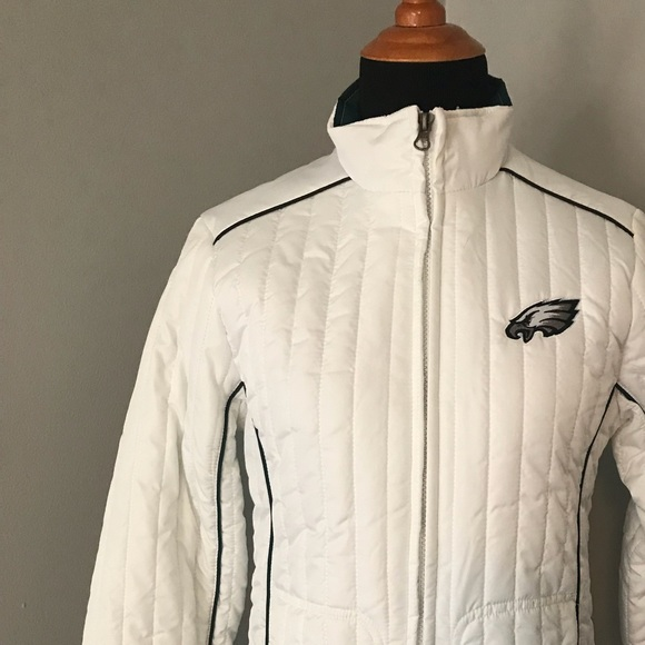 41 Off Nfl Jackets Blazers Ladies Nfl Eagles White Quilted